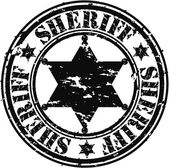 Grunge şerif yıldız, vektör çizim — Stok Vektör