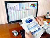 Analisando dados — Foto Stock
