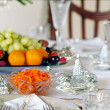 Holiday place setting — Stock Photo