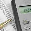 Tax calculator and pen — Stock Photo #9104547