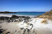 Eigg and Rum from Arisaig. — Stock Photo