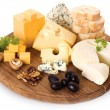 Board of cheese - Stock Photo
