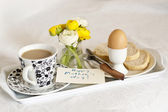 Breakfast for mother day — Stock Photo