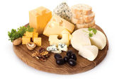 Board of cheese — Stock Photo