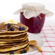 Homemade pancakes - Stock Photo