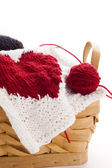 Knitting heart — Stockfoto