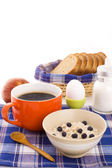 Breakfast with oatmeal — Stock Photo