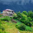The house in the mountainous near Gudauri (Georgia). — Stock Photo