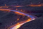 военно-грузинской дороге в ночное время — Стоковое фото