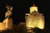 Night Tbilisi near Metekhi Bridge — Stock Photo