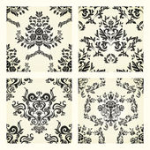 Set of damask patterns — Stock Vector