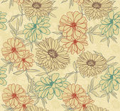 Floral seamless wallpaper — Stockvektor