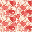 Valentine seamless background — Stock Vector #8106199