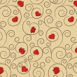 Royalty-Free Stock Vector Image: Romantic repeating wallpaper