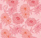 Květinové bezešvá tapeta — Stock vektor