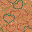 Stock Vector: Seamless pattern with hearts