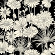 Black and white floral seamless pattern — Stock Vector #8505539