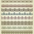 Set of vintage borders. — Stock Vector