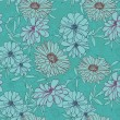 Floral seamless wallpaper — Stockvektor