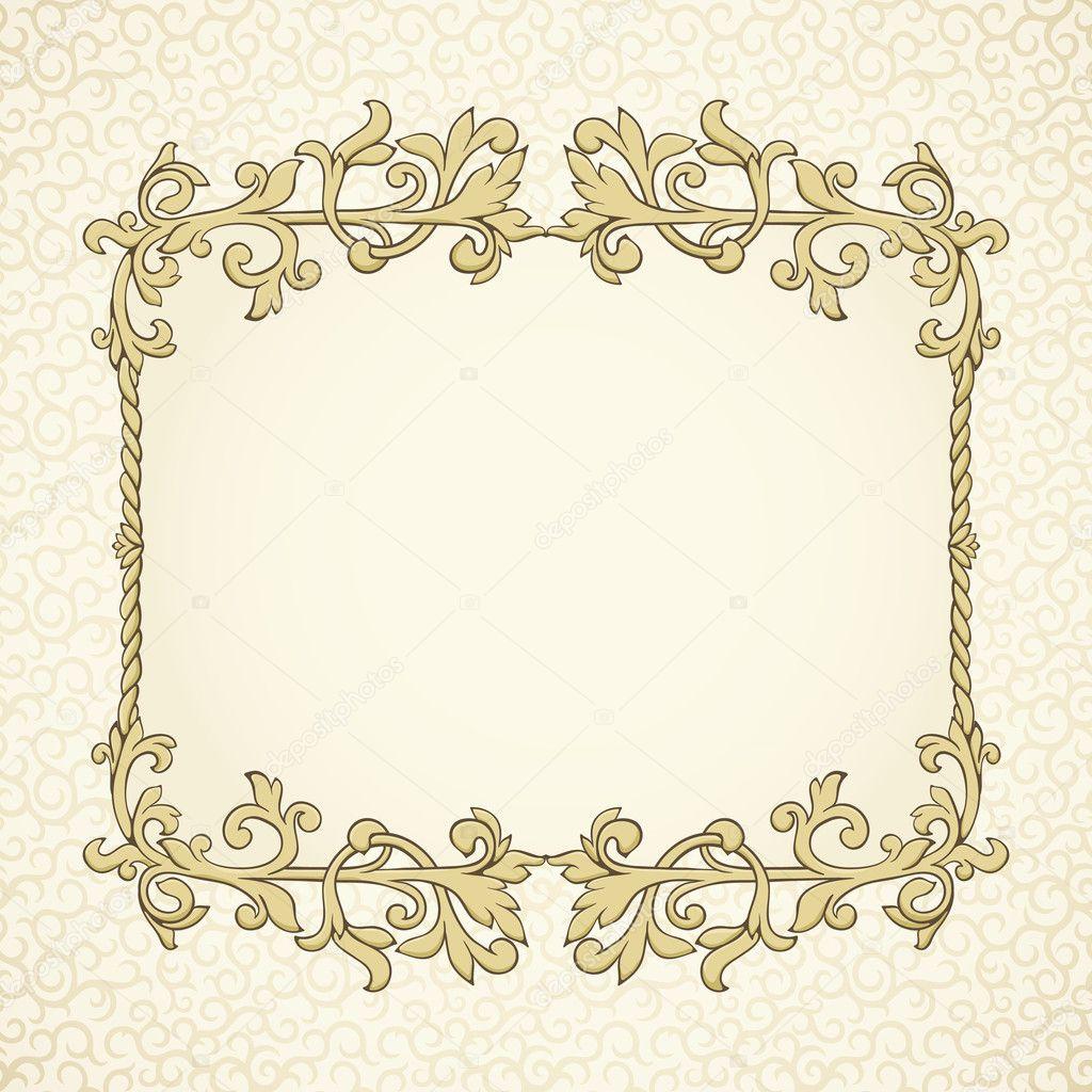 复古相框 对角 素材