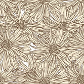 Floral seamless wallpaper — Vettoriale Stock