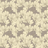 Floral seamless wallpaper — Stok Vektör