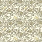 Floral nahtlose Tapete — Stockvektor