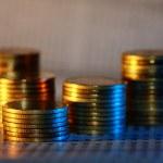 Gold coin heap — Stock Photo #9844680