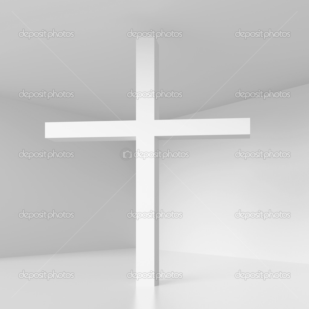 3d Illustration of Cross Symbol — Stock Photo #10288076