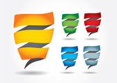 Abstract editable color strip sticker — Stock Vector