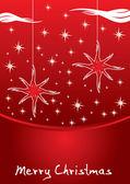 抽象的圣诞树圣诞卡片 — 图库矢量图片