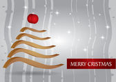 Christmas Card with abstract Christmas tree — Stock Vector