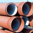 Pile of  PVC pipes - Stock Photo
