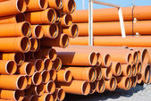 Orange PVC pipes — Stock Photo