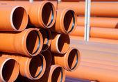 Orange PVC pipes — Stock Photo