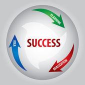 Key of success — Stock Vector
