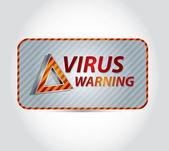 Virüs uyarısı — Stok Vektör