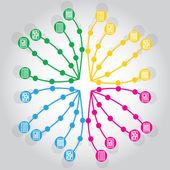 Network — Cтоковый вектор