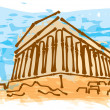 Greek ancient building - Stock Vector