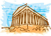 Greek ancient building — Stock Vector