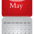 Stock Vector: Monthly calendar for 2012, May