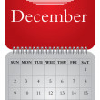 Stock Vector: Monthly calendar for 2012, December
