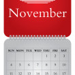 Stock Vector: Monthly calendar for 2012, November