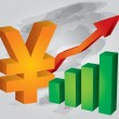Yuexchange rate increases — Stockvektor #9900183