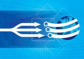 Komunikacja concep — Wektor stockowy