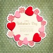 Stock Vector: Vintage frame with hearts and flowers to Valentine