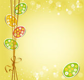 Background with holiday Easter eggs — Stock Vector