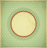 Grunge, vintage background with a circular frame and lace — Stock Vector