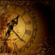 Vector grunge abstract background with antique clocks — Imagen vectorial