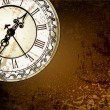 Vector grunge abstract background with antique clocks — Vektorgrafik
